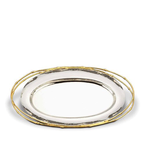 L'Objet Evoca Large Oval Platter 24k Gold-Plated
