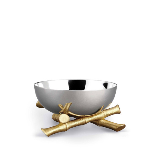 L'Objet Bambou Small Bowl 24k Gold-Plated Stainless Steel
