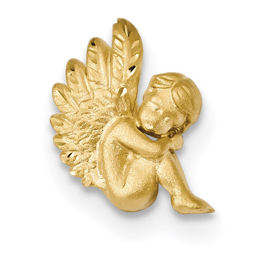 Angel Chain Slide 14k Gold Satin & Diamond-cut K5909