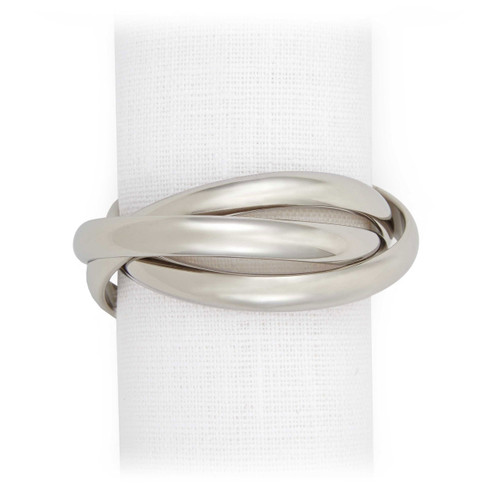 L'Objet Platinum Three-Ring Napkin Holder