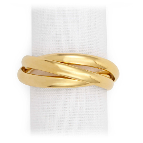 L'Objet Gold Three-Ring Napkin Holder