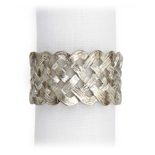 L'Objet Platinum Braid Napkin Holder