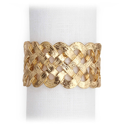 L'Objet Gold Braid Napkin Holder