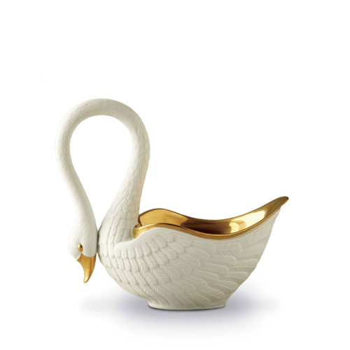 L'Objet Swan White Bowl Medium