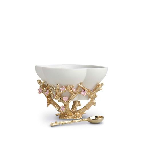L'Objet Blossom Salt Cellar with Spoon
