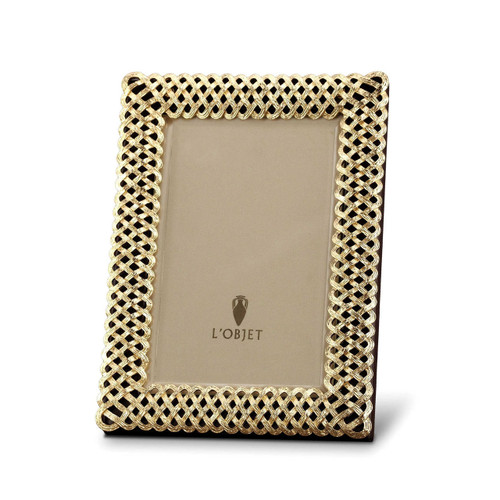 L'Objet Braid 5 x 7 Inch Gold Picture Frame