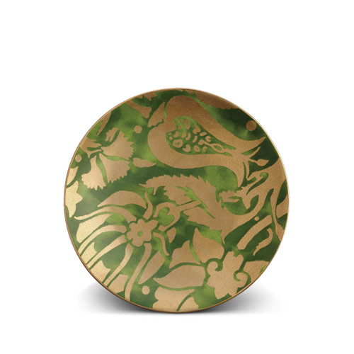L'Objet Fortuny Melagrana Green Dessert Plate