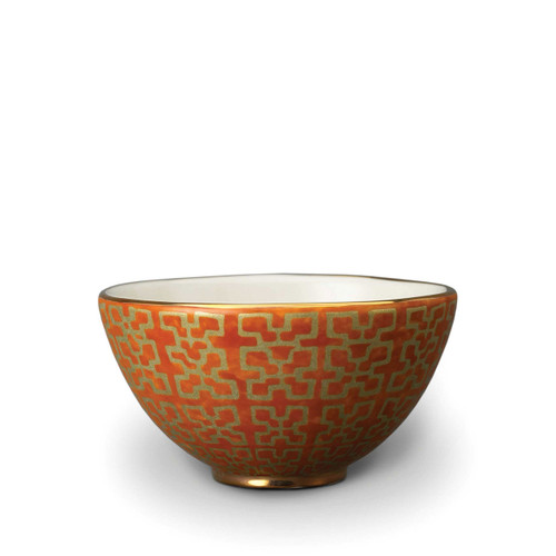 L'Objet Fortuny Ashanti Orange Cereal Bowl Set of Four