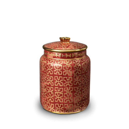 L'Objet Fortuny Ashanti Red Small Canister