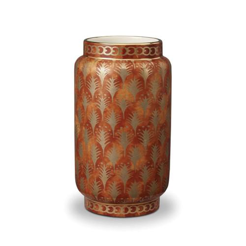 L'Objet Fortuny Piumette Orange Medium Vase