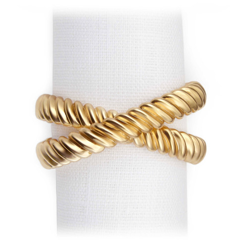 L'Objet Gold Deco Twist Napkin Holder