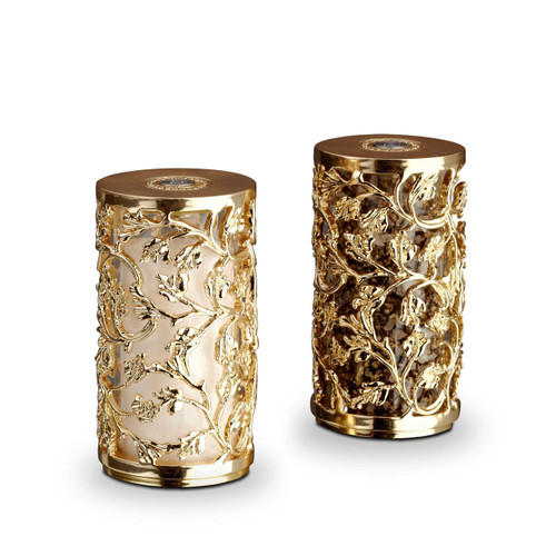 L'Objet Gold Salt and Pepper Shaker Lorel Spice Jewels