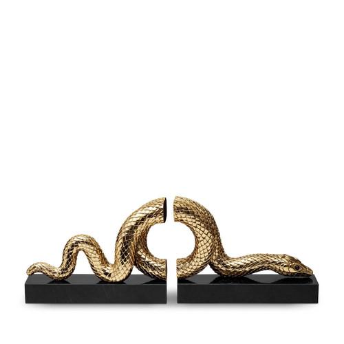 L'Objet Snake Gold Bookend Set