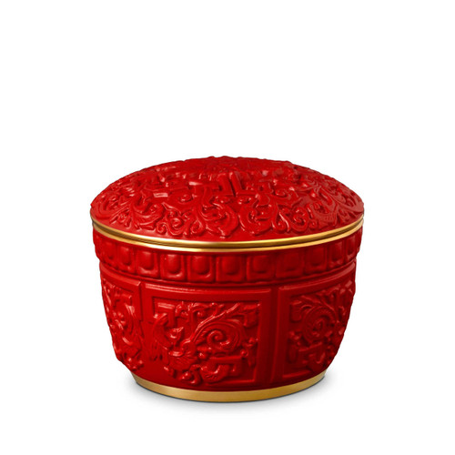 L'Objet Chinoiserie Cinnabar Candle