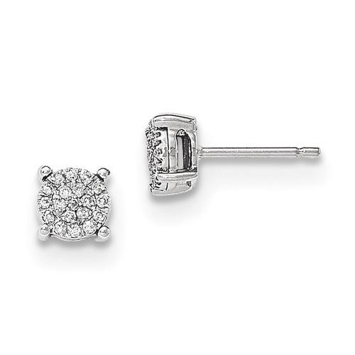 Diamond Post Earrings 14k white Gold MPN: XE2855AA