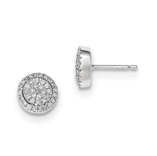 Diamond Post Earrings 14k white Gold MPN: XE2859AA