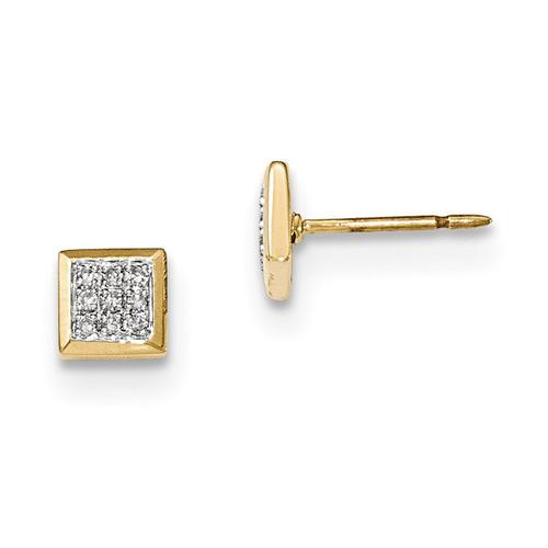 Diamond Post Earrings 14k Gold MPN: XE2862AA