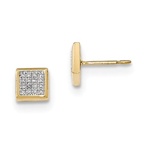 Diamond Post Earrings 14k Gold MPN: XE2863AA