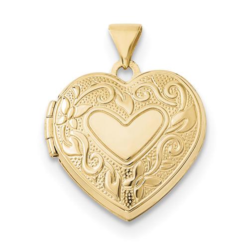 18mm Heart Locket 14k Gold XL686