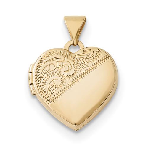 15mm Heart Locket 14k Gold XL694