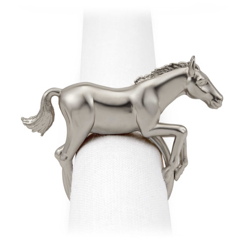 L'Objet Platinum Horse Napkin Holder