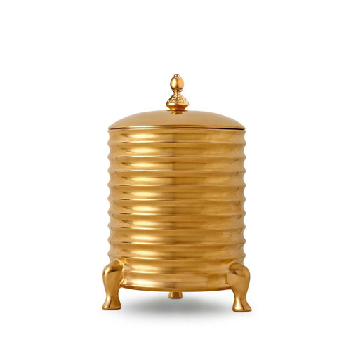 L'Objet Han Canister Candle with Lid 3-wick Gold