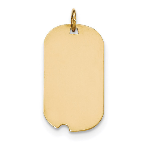 0.035 Gauge Engravable Dog Tag with Notch Disc Charm 14k Gold Plain XM561/35