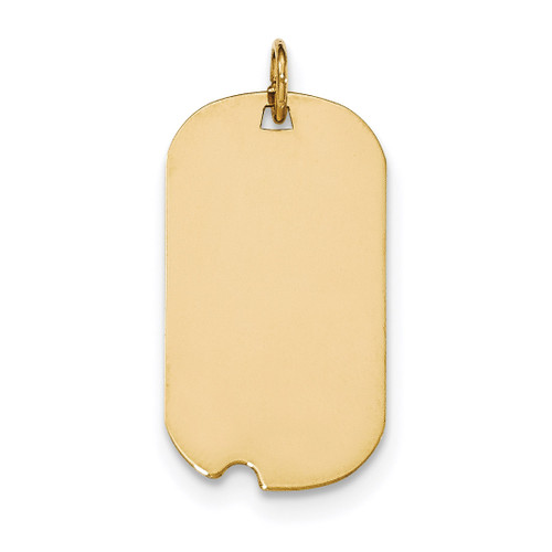0.013 Gauge Engravable Dog Tag with Notch Disc Charm 14k Gold Plain XM562/13