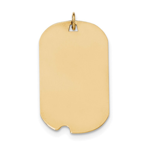 0.027 Gauge Engravable Dog Tag with Notch Disc Charm 14k Gold Plain XM564/27
