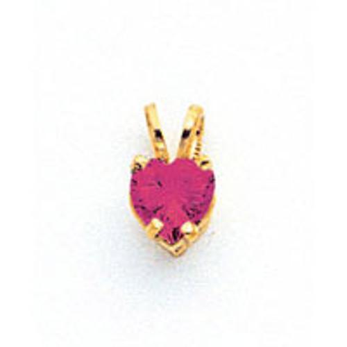 5mm Heart Rhodolite Garnet pendant 14k Gold XP428RG