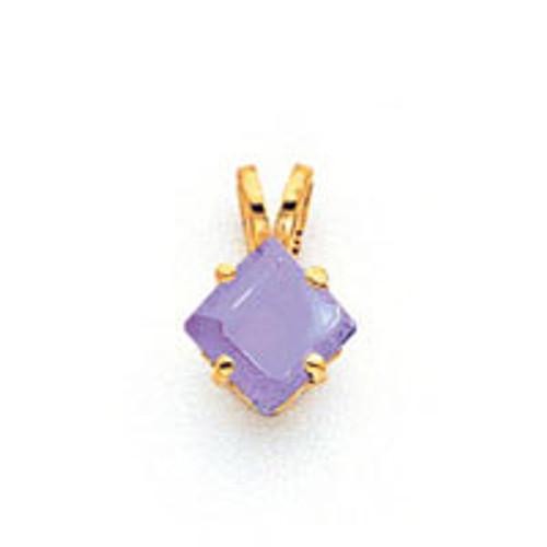5mm Princess Cut Tanzanite pendant 14k Gold XP431T