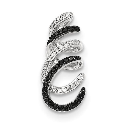 Black and White Diamond Chain Slide 14k white Gold XP4690AA