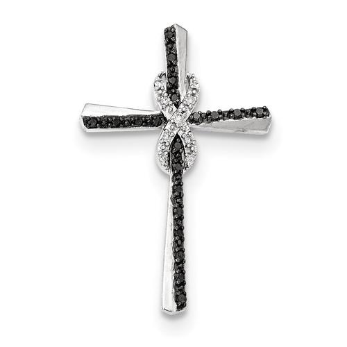 Black and White Diamond Infinity Cross Chain Slide 14k white Gold XP4968AA