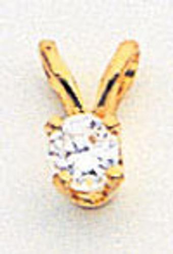 3mm Cubic Zirconia pendant 14k Gold XP4CZ