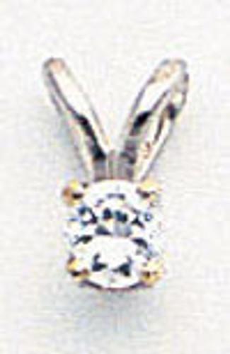 3mm Cubic Zirconia pendant 14k white Gold XPW4CZ