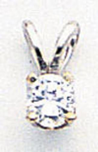 3.5mm Cubic Zirconia pendant 14k white Gold XPW5CZ