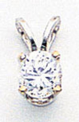 4.25mm Cubic Zirconia pendant 14k white Gold XPW8CZ