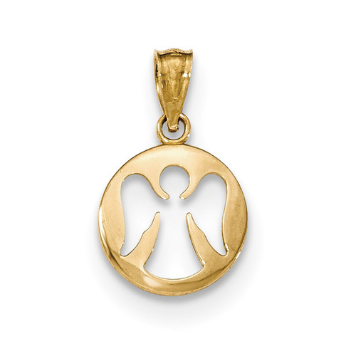 Cut-out Angel Pendant 14k Gold Polished XR1509