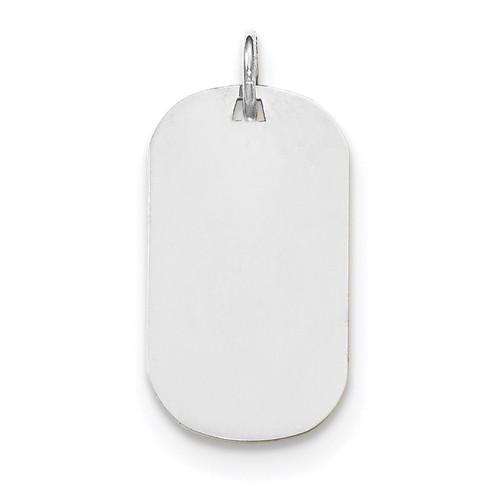 Plain .018 Gauge Engravable Dog Tag Disc Charm 14k white Gold XWM619/18