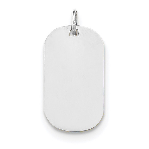 Plain .027 Gauge Engravable Dog Tag Disc Charm 14k white Gold XWM619/27