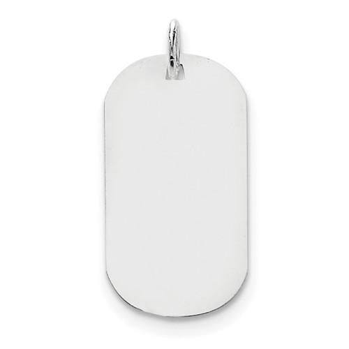 Plain .018 Gauge Engravable Dog Tag Disc Charm 14k white Gold XWM620/18