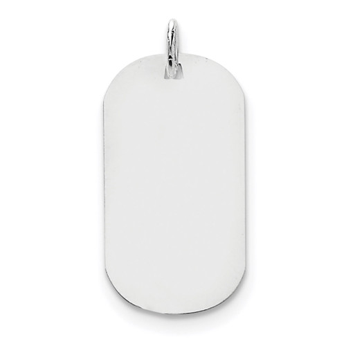 Plain .035 Gauge Engravable Dog Tag Disc Charm 14k white Gold XWM620/35