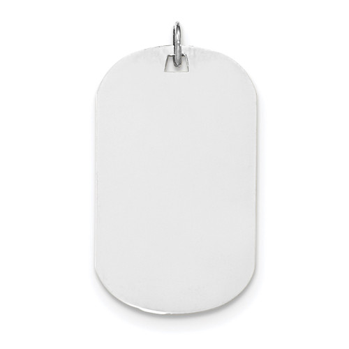 Plain .018 Gauge Engravable Dog Tag Disc Charm 14k white Gold XWM621/18