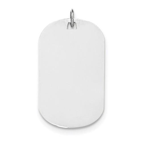 Plain .027 Gauge Engravable Dog Tag Disc Charm 14k white Gold XWM621/27