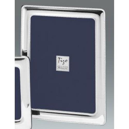 Tizo Precious Bead 5 x 5 Inch Sterling Silver Picture Frame