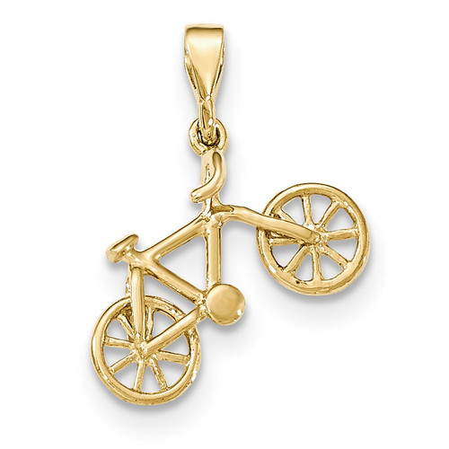14kt Yellow Gold Polished Bicycle Pendant 14k Gold YC1255