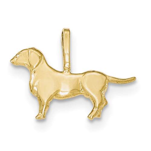 14kt Yellow Gold Polished Dog Pendant 14k Gold YC1256