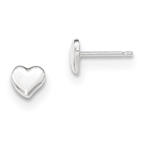 Heart Post Earrings 14k White Gold Polished MPN: YE1734 UPC: 191101367373