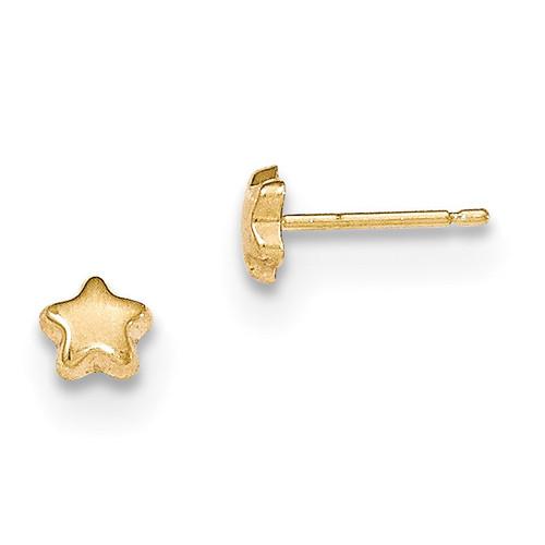 Star Post Earrings 14k Gold Polished MPN: YE1746 UPC: 191101459047