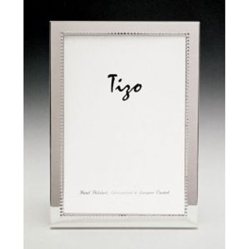 Tizo Inner Bead 5 x 5 Inch Square Silver Plated Picture Frame